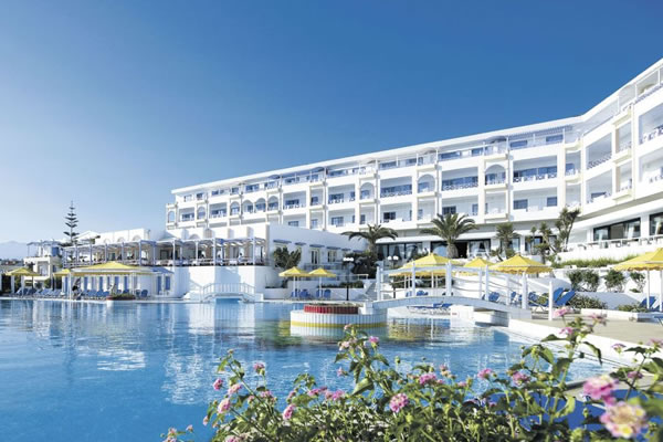 A hotel perfect for relaxation offering 2 swimming pools and it\'s own wedge  of beach. Flights included.
